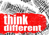 Word cloud think different