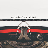 Curriculum Vitae type on old typewriter machine