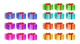 presents with different color and rotation