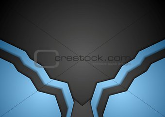 Abstract corporate blue art template design
