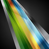 Bright geometric stripes hi-tech background
