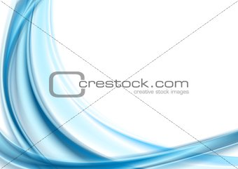 Bright blue smooth waves on white background