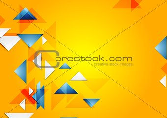 Bright vector geometric background