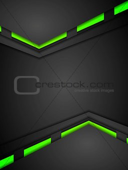 Green and black contrast gradients tech design