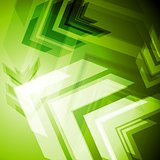 Hi-tech green arrows abstact background