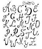 Handwritten vintage font