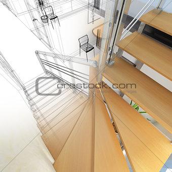 Corridor in modern office