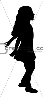 a girl, silhouette vector