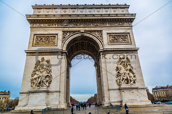 Arc de Triomphe (Paris, France).