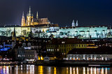Prague gothic Castle with Charles Bridge