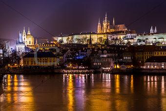 Prague gothic Castle with Charles Bridge