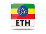 Square icon with flag of ethiopia