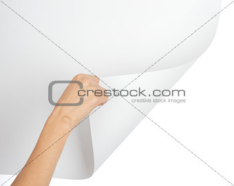 Right hand turning empty page corner