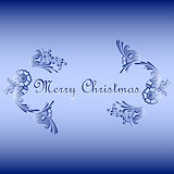 floral ornament with Merry Christmas text