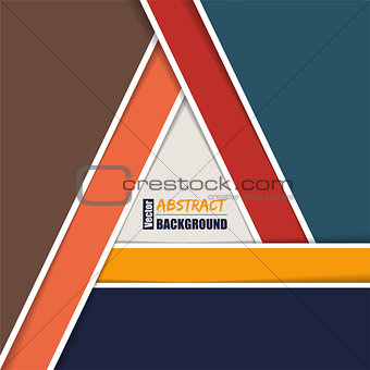 Abstract brochure template with triangle shaped by stripes