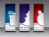 Christmas shopping label designs with symbols