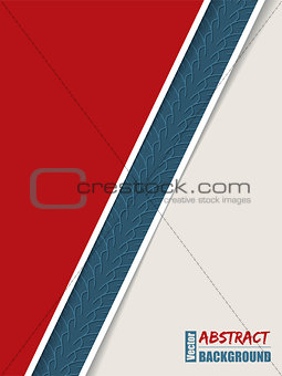 Abstract brochure with tire track stripe