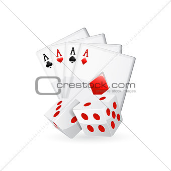 Cards isolated on white. Vector