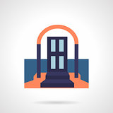 Front door colored flat vector icon