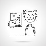 Cat with phone line vector icon