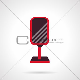 Advertising signboard flat vector icon