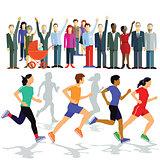 Runners with Puplikum