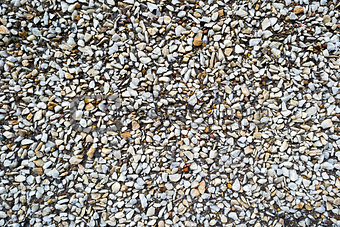 Close up of rough gravel background texture