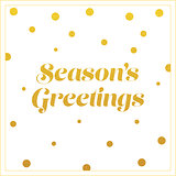 vector gold seasons greetings card design