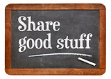 Share good stuff on blackboard