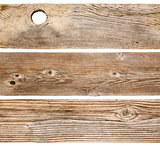 cedar wood planks isolated