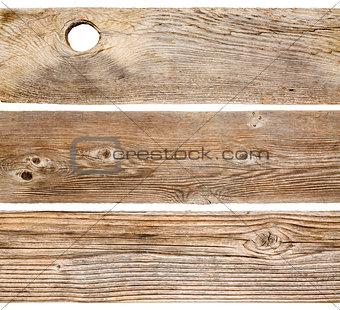 cedar wood planks isolated