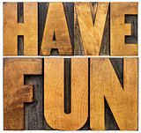 have fun word abstract banner