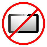 Icon ban tablet computer.