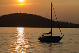 Sunset on Lake Coeur d'Alene