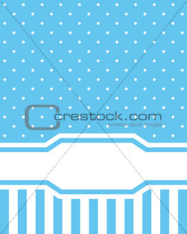 Card invitation blue