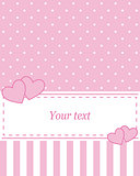 Card invitation pink