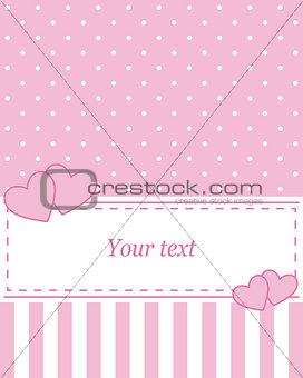 Card invitation pink