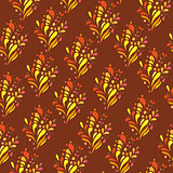 Orange ornament - seamless pattern dudling