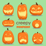 Pumpkin set. Halloween