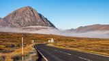 The road through Glencoe, Scotland