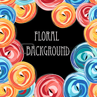 bright graphic floral
