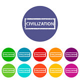 Civilization flat icon