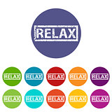 Relax flat icon