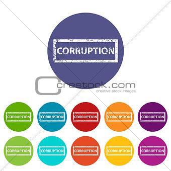Corruption flat icon