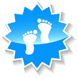 Tracks blue icon