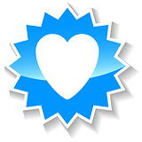 Heart blue icon