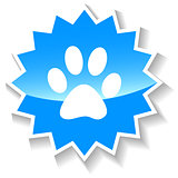 Paw blue icon