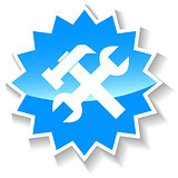 Repair blue icon