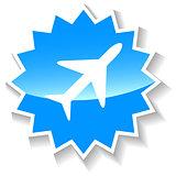 Plane blue icon
