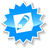 Pencil blue icon